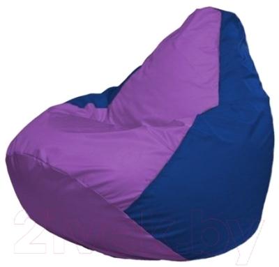Бескаркасное кресло Flagman Груша Макси Г2.1-105 (сиреневый/синий)