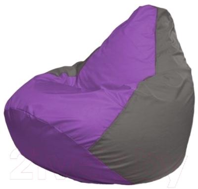 Бескаркасное кресло Flagman Груша Макси Г2.1-106 (сиреневый/серый)