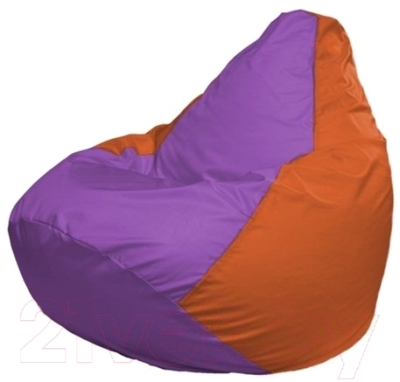 Бескаркасное кресло Flagman Груша Макси Г2.1-110 (сиреневый/оранжевый)