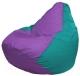 Бескаркасное кресло Flagman Груша Макси Г2.1-112 (сиреневый/бирюзовый) -