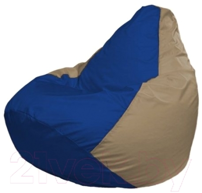 Бескаркасное кресло Flagman Груша Макси Г2.1-114 (синий/темно-бежевый)
