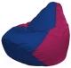 Бескаркасное кресло Flagman Груша Макси Г2.1-116 (синий/фуксия) -