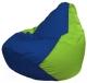 Бескаркасное кресло Flagman Груша Макси Г2.1-119 (синий/салатовый) -