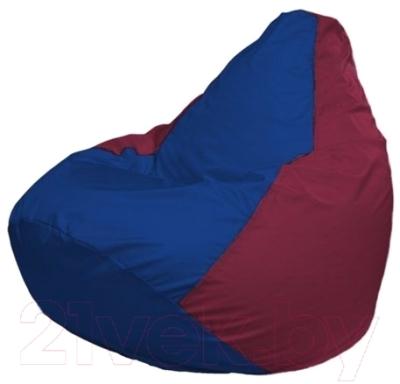 Бескаркасное кресло Flagman Груша Макси Г2.1-123 (синий/бордовый)