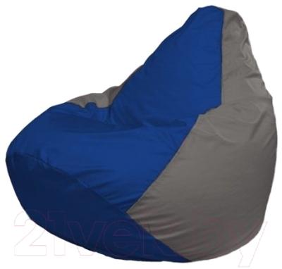 Бескаркасное кресло Flagman Груша Макси Г2.1-126 (синий/серый)