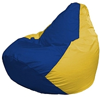 Бескаркасное кресло Flagman Груша Макси Г2.1-128 (синий/желтый) -
