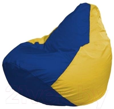 Бескаркасное кресло Flagman Груша Макси Г2.1-128 (синий/желтый)