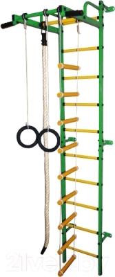Детский спортивный комплекс Формула здоровья Карапуз-5А Плюс (зеленый/желтый)