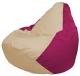 Бескаркасное кресло Flagman Груша Макси Г2.1-131 (светло-бежевый/фуксия) -