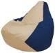 Бескаркасное кресло Flagman Груша Макси Г2.1-133 (светло-бежевый/темно-синий) -