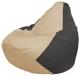 Бескаркасное кресло Flagman Груша Макси Г2.1-134 (светло-бежевый/темно-серый) -