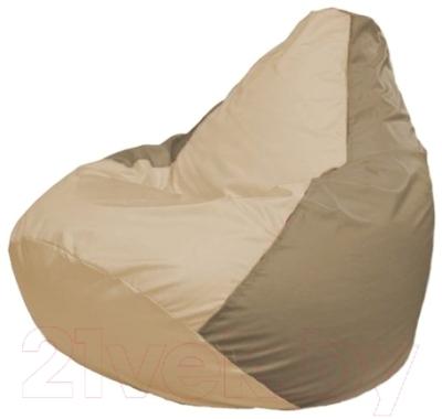 Бескаркасное кресло Flagman Груша Макси Г2.1-136 (светло-бежевый/темно-бежевый)