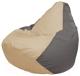 Бескаркасное кресло Flagman Груша Макси Г2.1-140 (светло-бежевый/серый) -