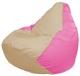Бескаркасное кресло Flagman Груша Макси Г2.1-142 (светло-бежевый/розовый) -
