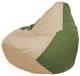 Бескаркасное кресло Flagman Груша Макси Г2.1-144 (светло-бежевый/оливковый) -