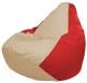 Бескаркасное кресло Flagman Груша Макси Г2.1-145 (светло-бежевый/красный) -