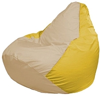 Бескаркасное кресло Flagman Груша Макси Г2.1-148 (светло-бежевый/желтый) -