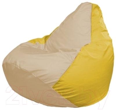 Бескаркасное кресло Flagman Груша Макси Г2.1-148 (светло-бежевый/желтый)