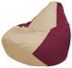 Бескаркасное кресло Flagman Груша Макси Г2.1-150 (светло-бежевый/бордовый) -