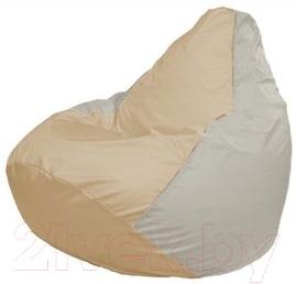 Бескаркасное кресло Flagman Груша Макси Г2.1-152 (светло-бежевый/белый)