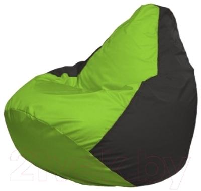 Бескаркасное кресло Flagman Груша Макси Г2.1-153 (салатовый/черный)