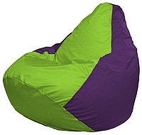 Бескаркасное кресло Flagman Груша Макси Г2.1-155 (салатовый/фиолетовый) -