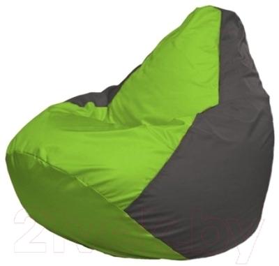 Бескаркасное кресло Flagman Груша Макси Г2.1-156 (салатовый/темно-серый)