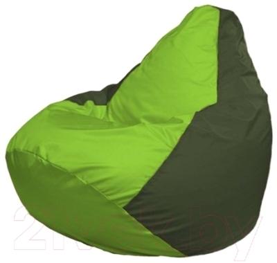 Бескаркасное кресло Flagman Груша Макси Г2.1-157 (салатовый/темно-оливковый)