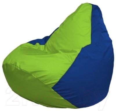 Бескаркасное кресло Flagman Груша Макси Г2.1-159 (салатовый/синий)