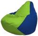 Бескаркасное кресло Flagman Груша Макси Г2.1-159 (салатовый/синий) -