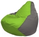 Бескаркасное кресло Flagman Груша Макси Г2.1-160 (салатовый/серый) -