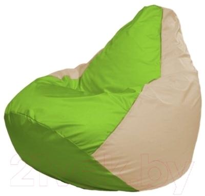 Бескаркасное кресло Flagman Груша Макси Г2.1-162 (салатовый/светло-бежевый)
