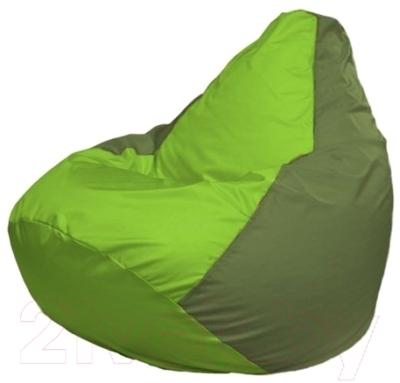Бескаркасное кресло Flagman Груша Макси Г2.1-164 (салатовый/оливковый)