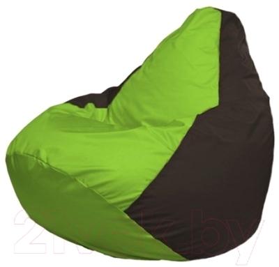 Бескаркасное кресло Flagman Груша Макси Г2.1-165 (салатовый/коричневый)