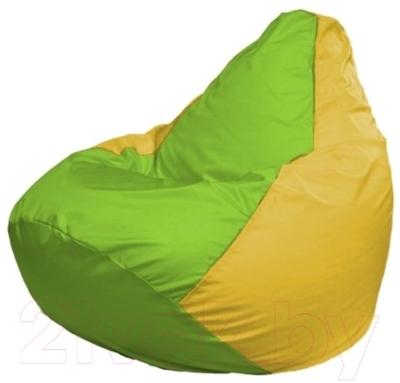 Бескаркасное кресло Flagman Груша Макси Г2.1-167 (салатовый/желтый)