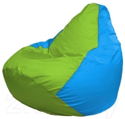 Бескаркасное кресло Flagman Груша Макси Г2.1-168 (салатовый/голубой)