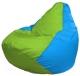 Бескаркасное кресло Flagman Груша Макси Г2.1-168 (салатовый/голубой) -