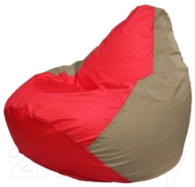 Бескаркасное кресло Flagman Груша Макси Г2.1-171 (красный, темно-бежевый)