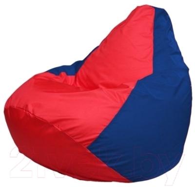 Бескаркасное кресло Flagman Груша Макси Г2.1-172 (красный/синий)