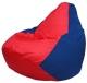 Бескаркасное кресло Flagman Груша Макси Г2.1-172 (красный/синий) -