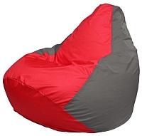 Бескаркасное кресло Flagman Груша Макси Г2.1-173 (красный/серый) -