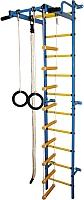 Детский спортивный комплекс Формула здоровья Карапуз-5А Плюс (синий/желтый) -