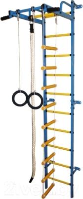 Детский спортивный комплекс Формула здоровья Карапуз-5А Плюс (синий/желтый)