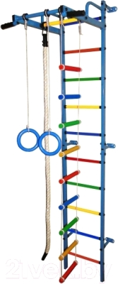 Детский спортивный комплекс Формула здоровья Карапуз-5А Плюс (синий/радуга)
