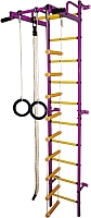 Детский спортивный комплекс Формула здоровья Карапуз-5А Плюс (фиолетовый/желтый) -