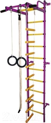 Детский спортивный комплекс Формула здоровья Карапуз-5А Плюс (фиолетовый/желтый)