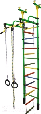 Детский спортивный комплекс Формула здоровья Жирафик-2А Плюс (зеленый/радуга)
