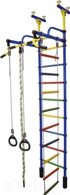 Детский спортивный комплекс Формула здоровья Жирафик-2А Плюс (синий/радуга)