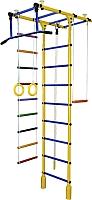 Детский спортивный комплекс Формула здоровья Атлант-1С Плюс (желтый/синий) -