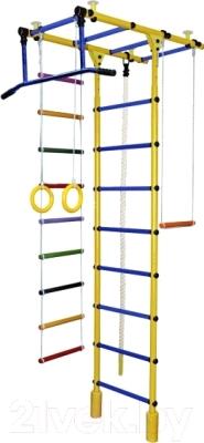 Детский спортивный комплекс Формула здоровья Атлант-1С Плюс (желтый/синий)